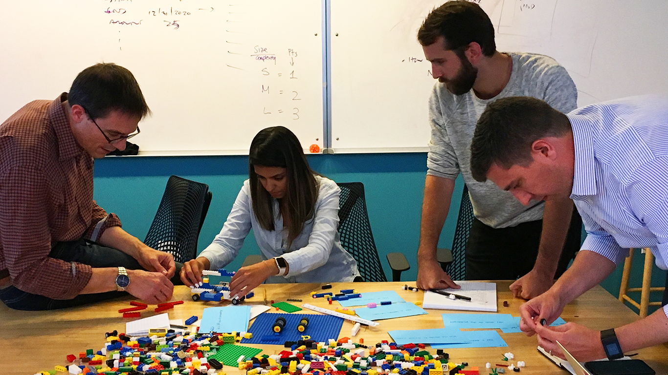 PUSH team in agile lego game